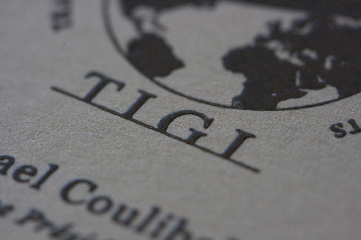 Carte Visite TIGI Detail Impression Relief 2