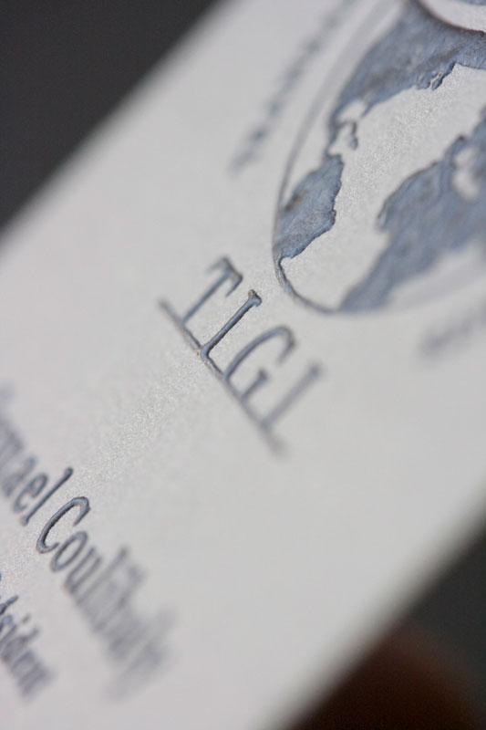 Carte Visite TIGI Detail Impression Relief