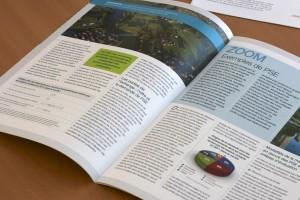 Double page intérieure de la lettre d'information biodiv'2050