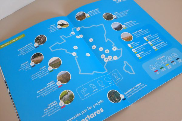 Carte de localisation des projets nature 2050