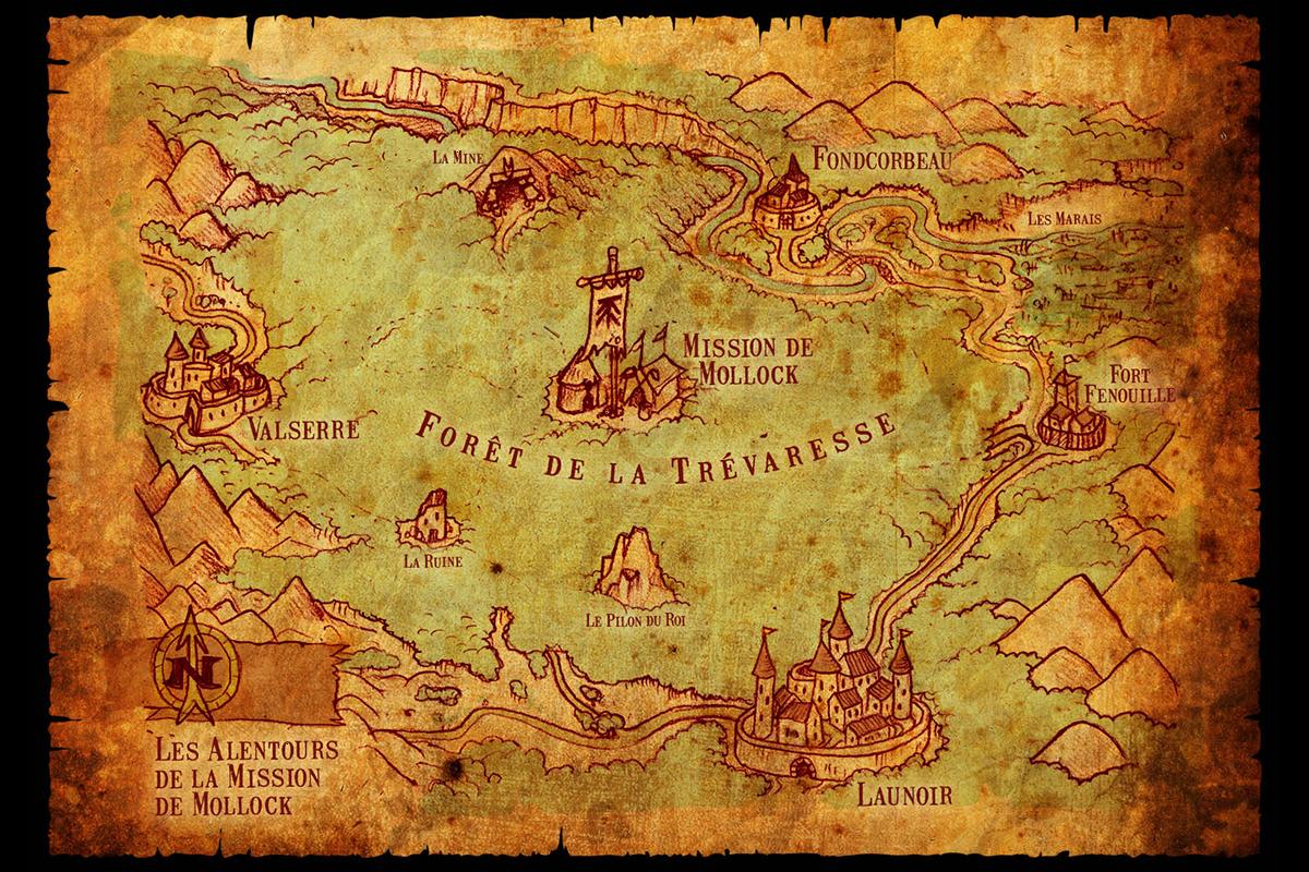 Carte Du Monde Parchemin création graphique lisa et joseph : illustration carte d'un monde