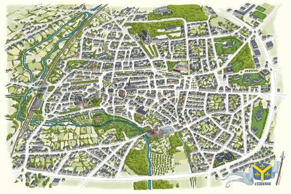 illustrateur-cartographie-illustree-plan-ville-issoudun